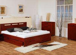 f935b11ba6a7 Valencia buk cink. Celomasivní dřevěná manželská postel.